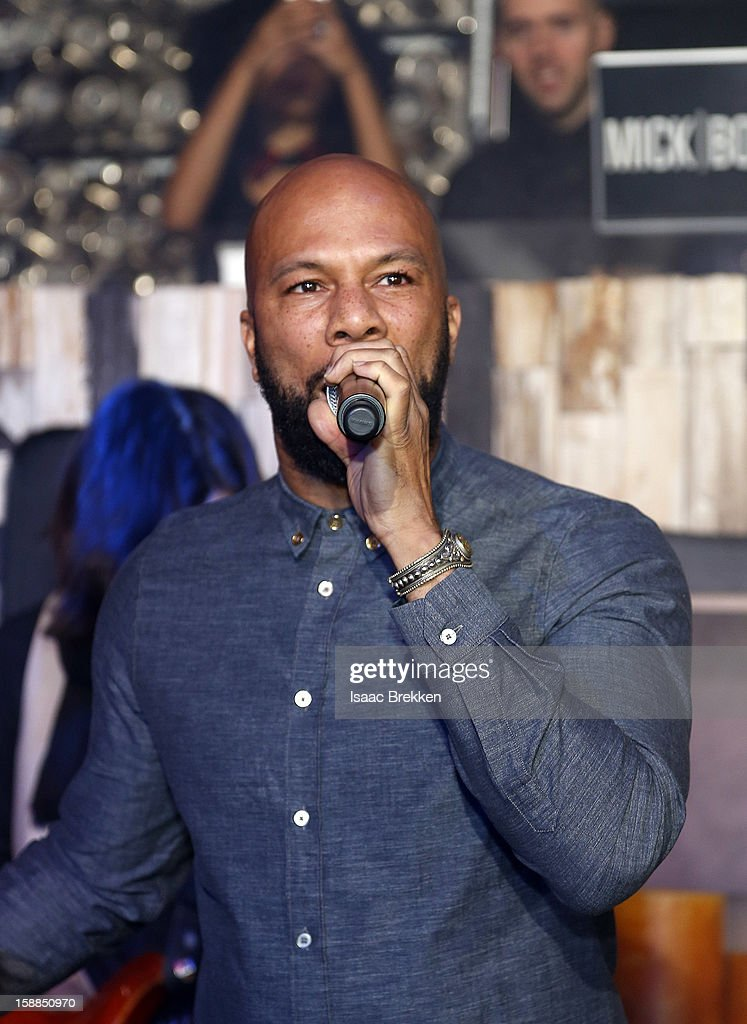 Rapper Common performs at Hyde Bellagio at the Bellagio on New Year's Eve January 1, 2013 in Las Vegas, Nevada.