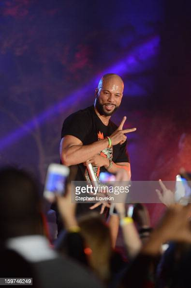 Rapper Common performs at the Generation Now Inaugural Youth Ball hosted by OurTimeorg on January 19 2013 in Washington United States