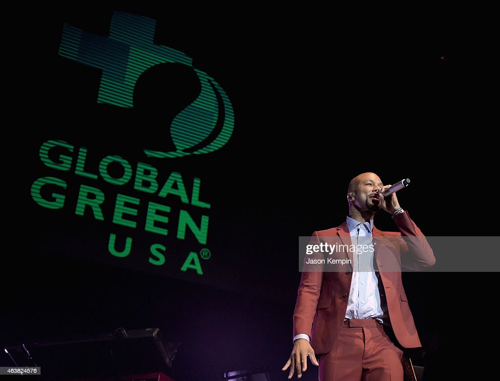 Rapper Common performs onstage at Global Green USA's 12th annual preOscar party at AVALON Hollywood on February 18 2015 in Hollywood California