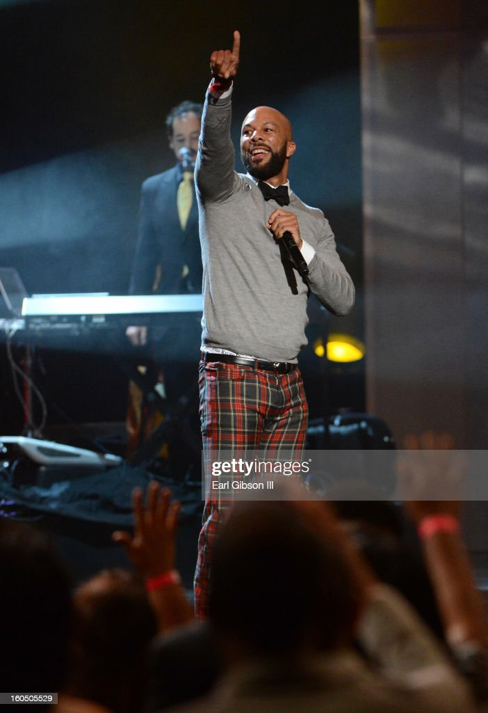 Rapper Common performs onstage during the 44th NAACP Image Awards at The Shrine Auditorium on February 1, 2013 in Los Angeles, California.