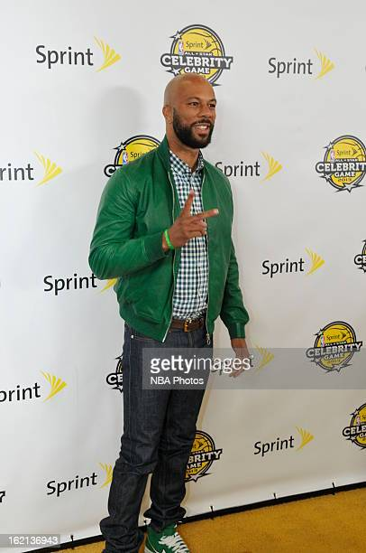 Rapper Common poses on the red carpet prior to the Sprint NBA AllStar Celebrity Game in Sprint Arena at Jam Session during the NBA AllStar Weekend on...