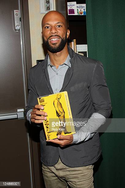 Rapper Common promotes his new book 'One Day It'll All Make Sense' at Barnes Noble Tribeca on September 13 2011 in New York City