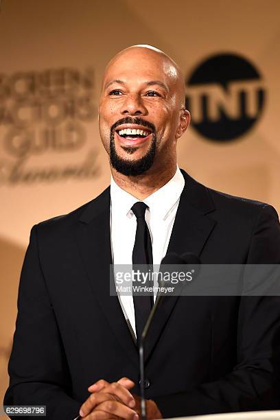 Rapper Common speaks onstage during the SAG Awards Online Holiday Auction benefits the SAGAFTRA Foundation at Pacific Design Center on December 14...