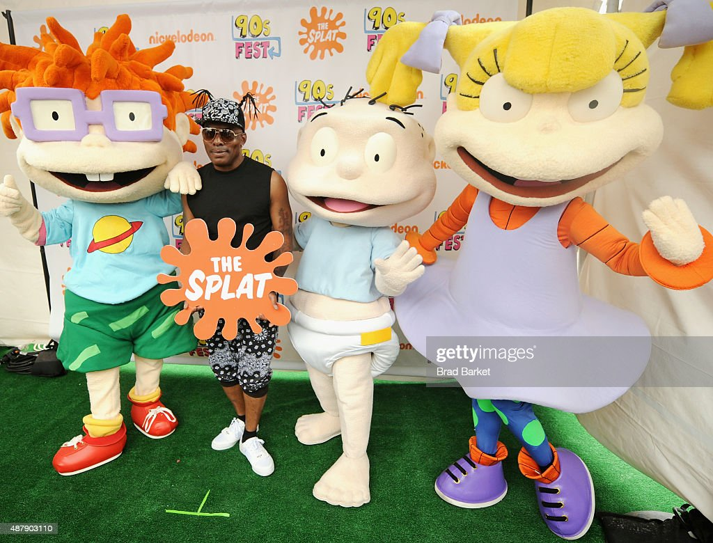 Rapper Coolio and Rugrats characters attend the Nickelodeon sponsored 90sFEST Pop Culture and Music Festival on September 12 2015 in Brooklyn New York