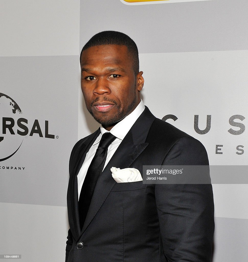 Rapper Curtis '<a gi-track='captionPersonalityLinkClicked' href=/galleries/search?phrase=50+Cent+-+Rapper&family=editorial&specificpeople=215363 ng-click='$event.stopPropagation()'>50 Cent</a>' Jackson attends the NBCUniversal Golden Globes viewing and after party held at The Beverly Hilton Hotel on January 13, 2013 in Beverly Hills, California.