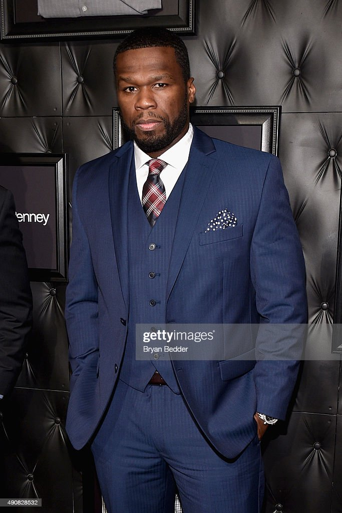 Rapper Curtis '<a gi-track='captionPersonalityLinkClicked' href=/galleries/search?phrase=50+Cent+-+Rapper&family=editorial&specificpeople=215363 ng-click='$event.stopPropagation()'>50 Cent</a>' Jackson III attends JCPenney and Michael Strahan's launch of Collection by Michael Strahan on September 30, 2015 in New York City.