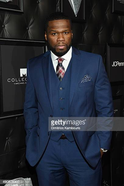 Rapper Curtis '50 Cent' Jackson III attends JCPenney and Michael Strahan's launch of Collection by Michael Strahan on September 30 2015 in New York...