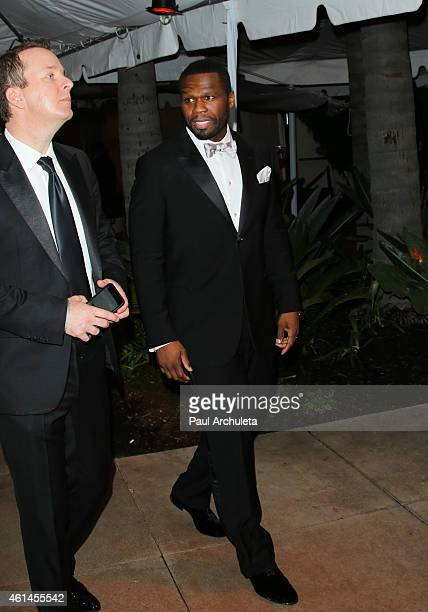 Rapper Curtis Jackson AKA 50 Cent is seen in Beverly Hills on January 11 2015 in Los Angeles California
