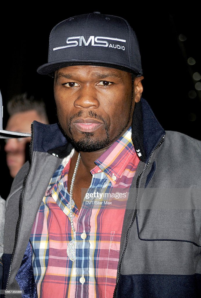 Rapper Curtis Jackson (aka <a gi-track='captionPersonalityLinkClicked' href=/galleries/search?phrase=50+Cent+-+Rapper&family=editorial&specificpeople=215363 ng-click='$event.stopPropagation()'>50 Cent</a>) as seen on April 15, 2013 in New York City.