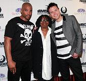 Rapper Darryl 'DMC' Matthews McDaniels of RunÐDMC actress Whoopi Goldberg and singer of Blink 182 Mark Hoppus attend the 2011 Garden of Dreams Talent...