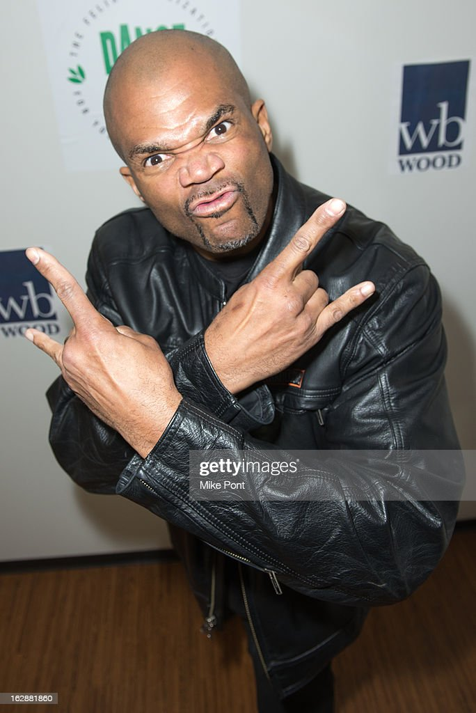 Rapper Darryl <a gi-track='captionPersonalityLinkClicked' href=/galleries/search?phrase=DMC&family=editorial&specificpeople=175934 ng-click='$event.stopPropagation()'>DMC</a> McDaniels attends the Dance This Way launch party at WB Wood on February 28, 2013 in New York City.