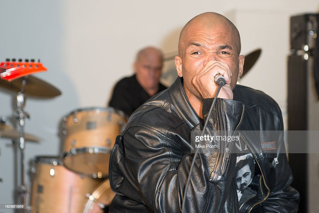 Rapper Darryl <a gi-track='captionPersonalityLinkClicked' href=/galleries/search?phrase=DMC&family=editorial&specificpeople=175934 ng-click='$event.stopPropagation()'>DMC</a> McDaniels performs at the Dance This Way launch party at WB Wood on February 28, 2013 in New York City.
