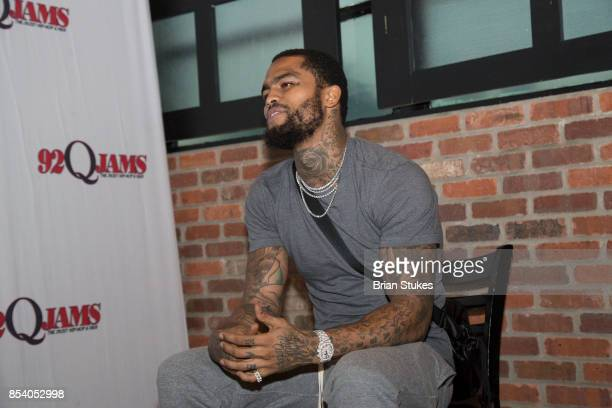 Rapper Dave East attends 92Q Jams Bowling Party as special guest at private location on September 24 2017 in Baltimore Maryland