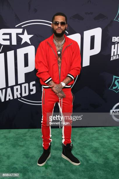 Rapper Dave East attends the BET Hip Hop Awards 2017 at The Fillmore Miami Beach at the Jackie Gleason Theater on October 6 2017 in Miami Beach...