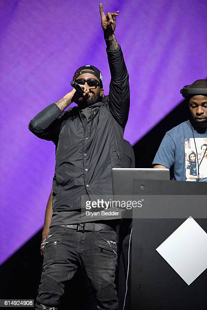 Rapper Dave East performs onstage during TIDAL X 1015 on October 15 2016 in New York City