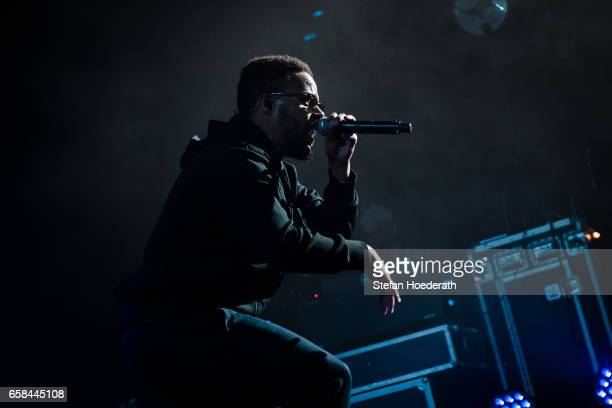 Rapper Denyo of Beginner performs live on stage during a concert at MaxSchmeling Hall on March 27 2017 in Berlin Germany