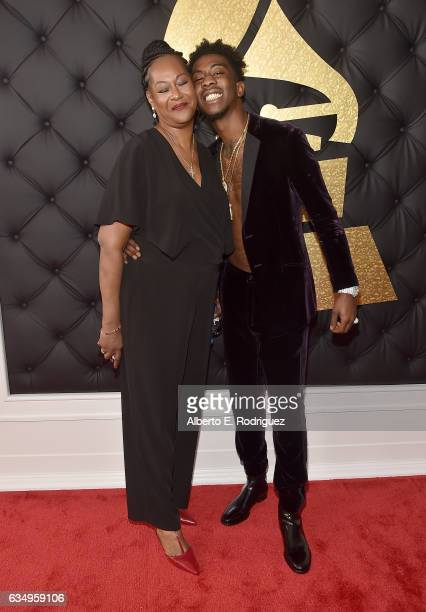 Rapper Desiigner and mother attend The 59th GRAMMY Awards at STAPLES Center on February 12 2017 in Los Angeles California