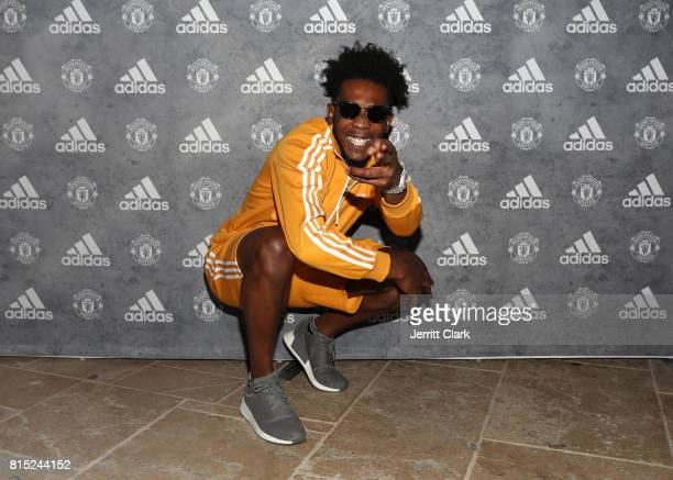 Rapper Desiigner attends Adidas and The Manchester United Squad present Unmissable featuring a live music performance and special guests at The...