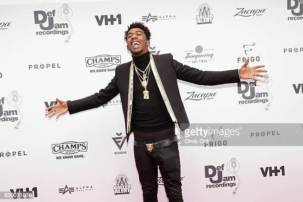 Rapper Desiigner attends The 2016 Def Jam Holiday Party sponsored by VH1 'The Breaks' Champs Sports Tanqueray 10 Zacapa Rum at Spring Place on...
