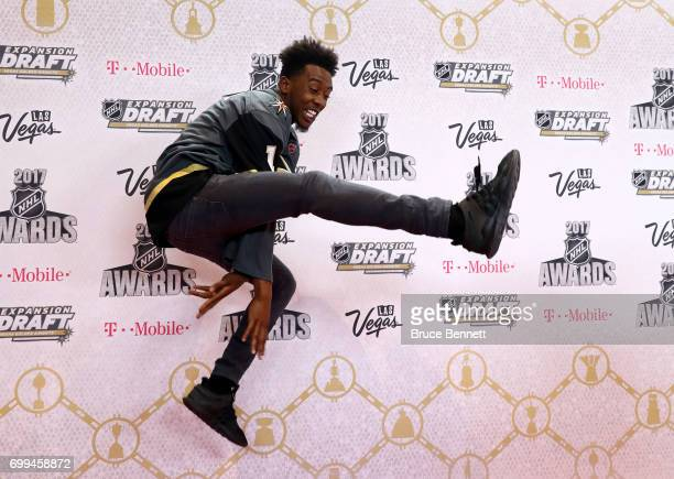Rapper Desiigner attends the 2017 NHL Awards wearing a Vegas Golden Knights jersey at TMobile Arena on June 21 2017 in Las Vegas Nevada