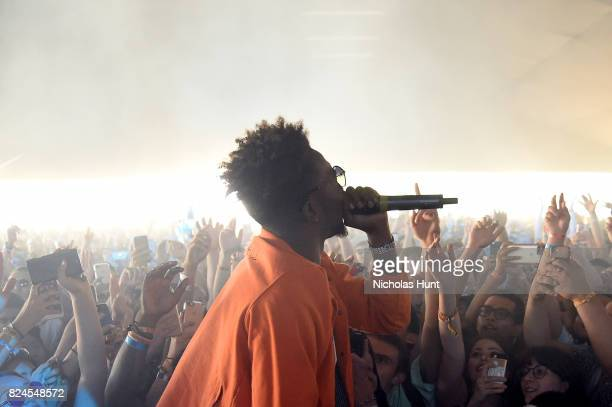 Rapper Desiigner performs onstage with Mura Masa at The Pavilion during the 2017 Panorama Music Festival Day 3 at Randall's Island on July 30 2017 in...