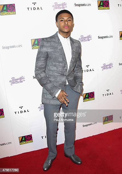 Rapper Diggy Simmons attends the Atlantic Records 2015 BET Awards after party at HYDE Sunset Kitchen Cocktails on June 28 2015 in West Hollywood...