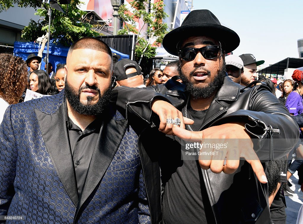 Rapper <a gi-track='captionPersonalityLinkClicked' href=/galleries/search?phrase=DJ+Khaled&family=editorial&specificpeople=577862 ng-click='$event.stopPropagation()'>DJ Khaled</a> (L) and rapper Ken Jones attend the 2016 BET Awards at the Microsoft Theater on June 26, 2016 in Los Angeles, California.