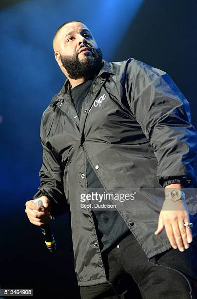 Rapper DJ Khaled at The Forum on February 28 2016 in Inglewood California