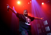 Rapper DJ Khaled performs onstage at the Future with DJ Khaled and friends event during the 2014 BET Experience At LA LIVE on June 27 2014 in Los...