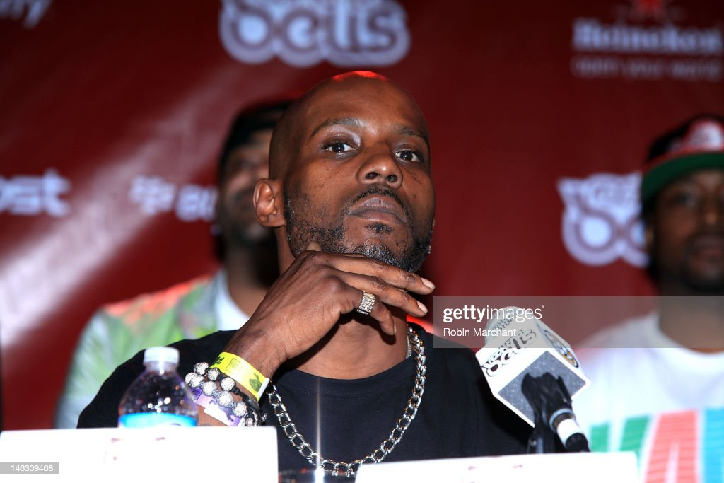 Rapper <a gi-track='captionPersonalityLinkClicked' href=/galleries/search?phrase=DMX&family=editorial&specificpeople=211365 ng-click='$event.stopPropagation()'>DMX</a> attends the 2012 Rock the Bells Festival press conference and fan appreciation party at Santos Party House on June 13, 2012 in New York City.