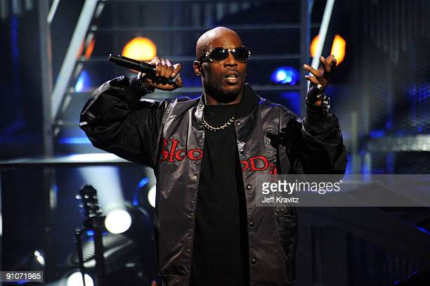 Rapper DMX onstage at the 2009 VH1 Hip Hop Honors at the Brooklyn Academy of Music on September 23 2009 in the Brooklyn borough of New York City