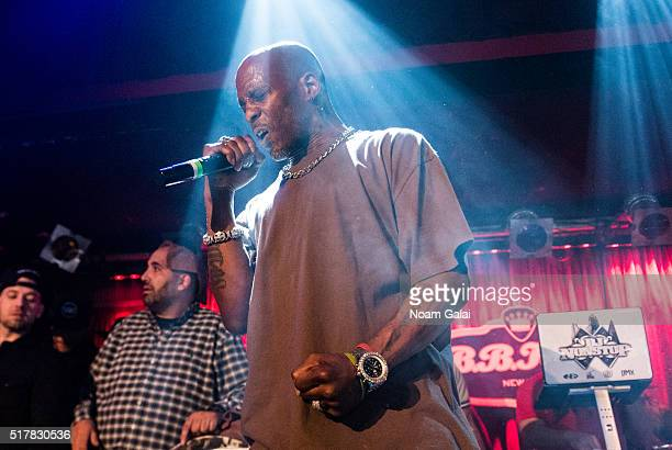 Rapper DMX performs in concert at BB King Blues Club Grill on March 27 2016 in New York City