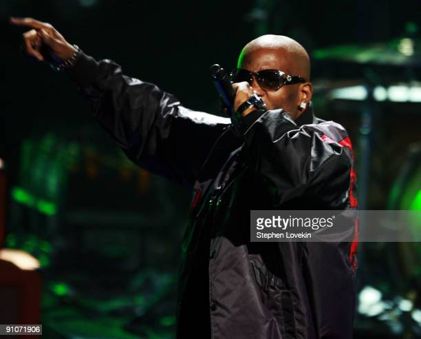 Rapper DMX performs onstage at the 2009 VH1 Hip Hop Honors at the Brooklyn Academy of Music on September 23 2009 in the Brooklyn borough of New York...