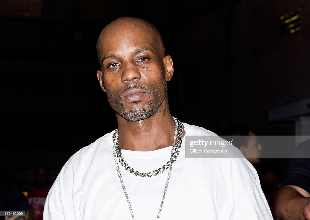 Rapper <a gi-track='captionPersonalityLinkClicked' href=/galleries/search?phrase=DMX&family=editorial&specificpeople=211365 ng-click='$event.stopPropagation()'>DMX</a> poses during <a gi-track='captionPersonalityLinkClicked' href=/galleries/search?phrase=DMX&family=editorial&specificpeople=211365 ng-click='$event.stopPropagation()'>DMX</a> 'Summer Anthems Tour' on August 2, 2013 in Essington, United States.