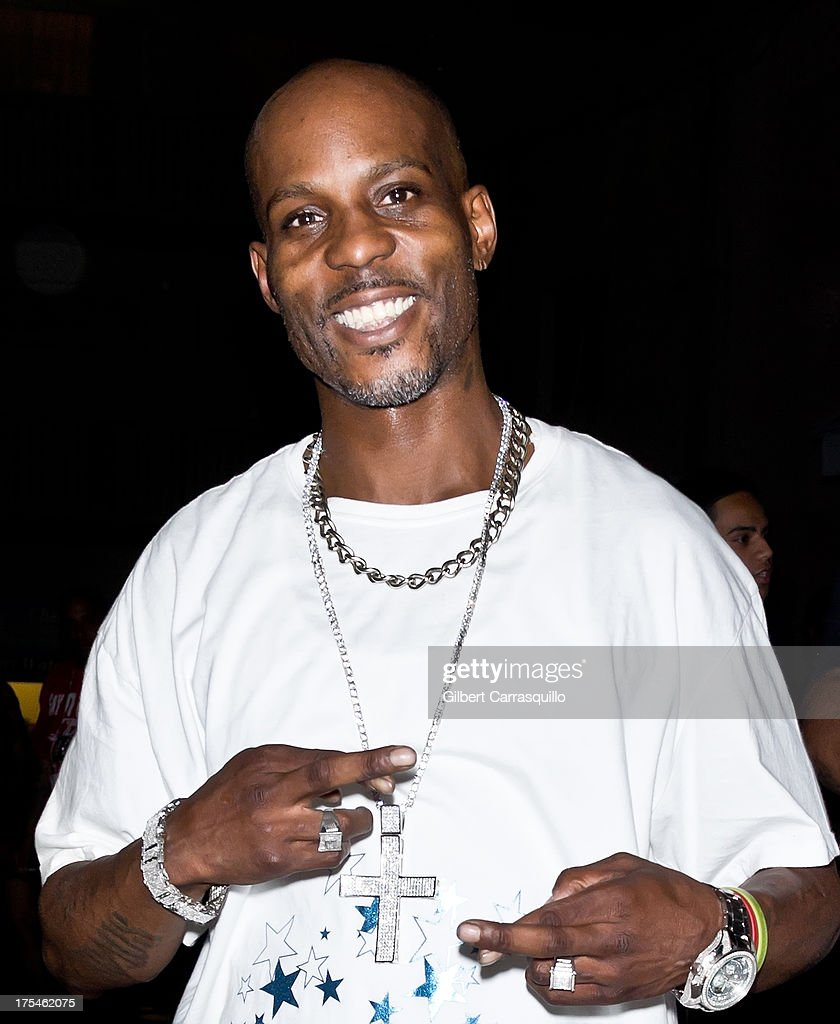 Rapper DMX poses during DMX 'Summer Anthems Tour' on August 2, 2013 in Essington, United States.