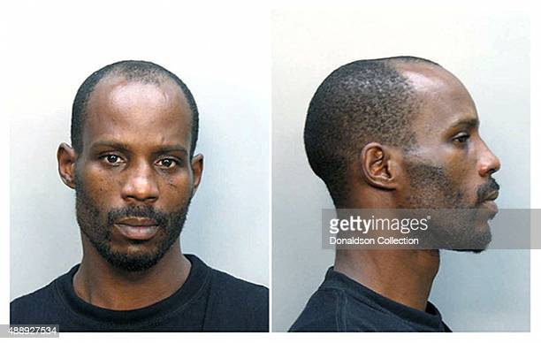 Rapper DMX poses for a mugshot after his arrest for attempting to buy narcotics in June 2008 in Miami Florida