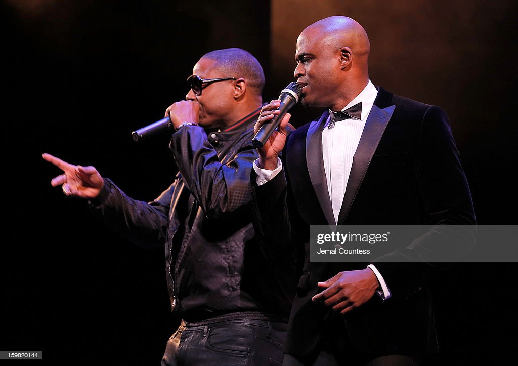 Rapper Doug E. Fresh and performer Wayne Brady performs at The Hip-Hop Inaugural Ball II at Harman Center for the Arts on January 20, 2013 in Washington, DC.