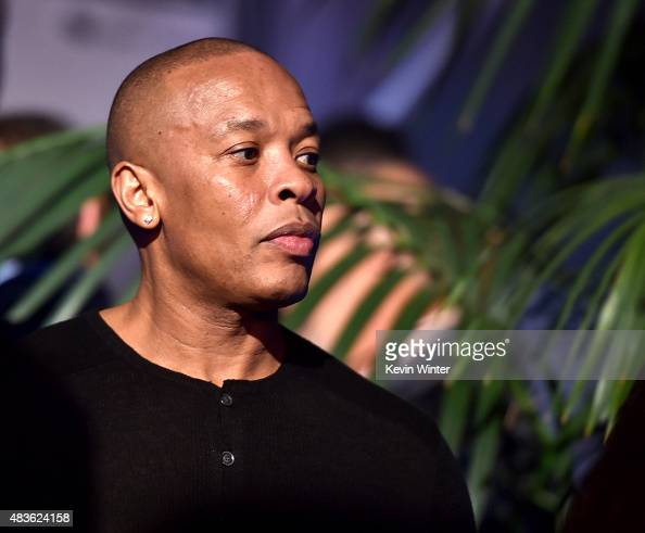 Rapper Dr Dre appears at the after party for the premiere of Universal Pictures and Legendary Pictures' 'Straight Outta Compton' at the Microsoft...