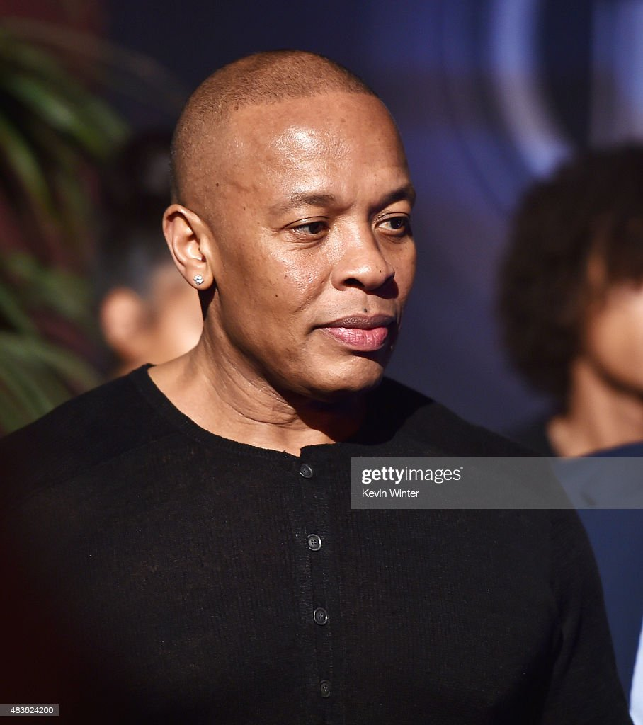 Rapper Dr. Dre appears at the after party for the premiere of Universal Pictures and Legendary Pictures' 'Straight Outta Compton' at the Microsoft Theatre on August 10, 2015 in Los Angeles, California.