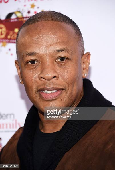 Rapper Dr Dre arrives at the Kids In The Spotlight's Movies By Kids For Kids Film Awards at Fox Studios on November 7 2015 in Los Angeles California