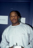 Rapper Dr Dre backstage at the Source Awards which were held at Madison Square Garden on August 3 1995 in New York New York