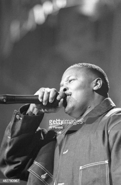 Rapper Dr Dre performs onstage at the Source Awards which were held at Madison Square Garden on August 3 1995 in New York New York
