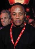 Rapper Dr Dre poses in the VIP Lounge at the iHeartRadio Music Festival held at the MGM Grand Garden Arena on September 24 2011 in Las Vegas Nevada