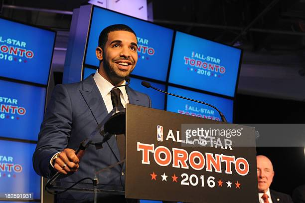 Rapper Drake annouces that Toronto will hold the 2016 AllStar weekend on September 30 2013 at the Air Canada Centre in Toronto Ontario Canada NOTE TO...