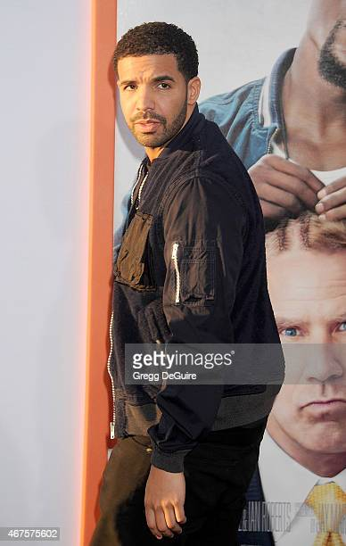 Rapper Drake arrives at the Los Angeles premiere of 'Get Hard' at TCL Chinese Theatre IMAX on March 25 2015 in Hollywood California