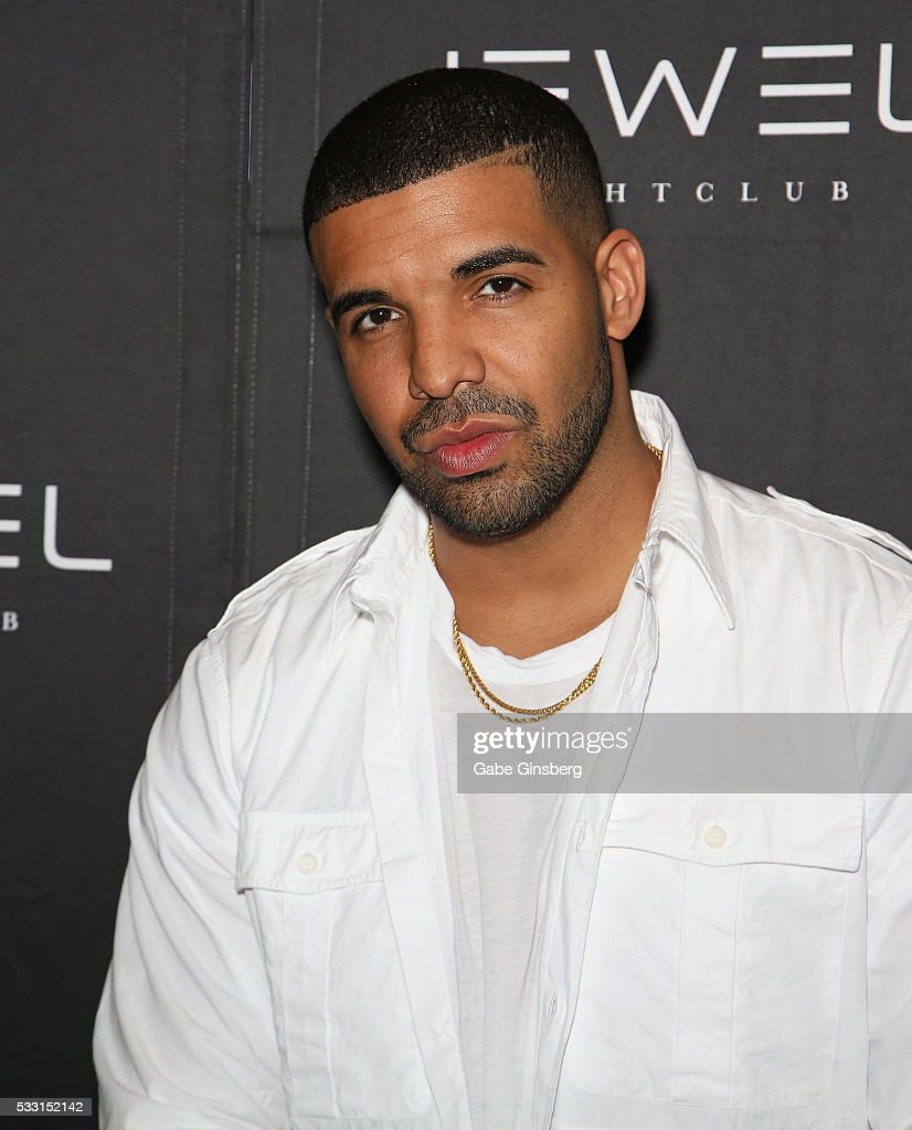 Rapper <a gi-track='captionPersonalityLinkClicked' href=/galleries/search?phrase=Drake+-+Entertainer&family=editorial&specificpeople=6927008 ng-click='$event.stopPropagation()'>Drake</a> attends Jewel Nightclub at the Aria Resort & Casino on May 21, 2016 in Las Vegas, Nevada.
