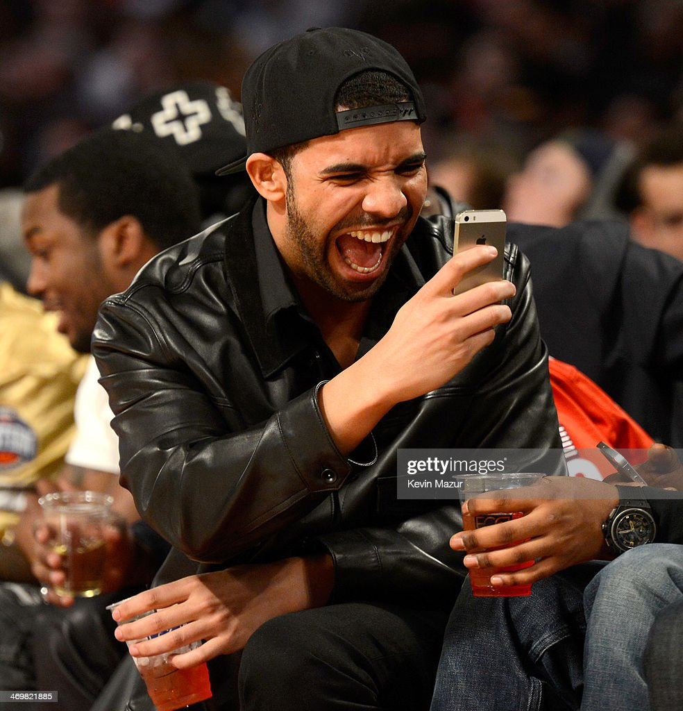 Rapper <a gi-track='captionPersonalityLinkClicked' href=/galleries/search?phrase=Drake+-+Entertainer&family=editorial&specificpeople=6927008 ng-click='$event.stopPropagation()'>Drake</a> attends the 63rd NBA All-Star Game 2014 at the Smoothie King Center on February 16, 2014 in New Orleans, Louisiana.