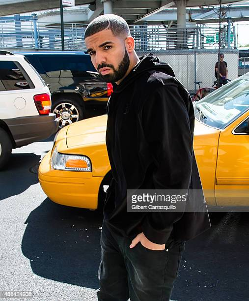 Rapper Drake is seen arriving at Serena Williams Signature Collection By HSN during Spring 2016 New York Fashion Week on September 15 2015 in New...