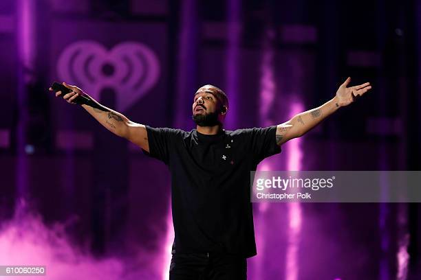 Rapper Drake performs onstage at the 2016 iHeartRadio Music Festival at TMobile Arena on September 23 2016 in Las Vegas Nevada