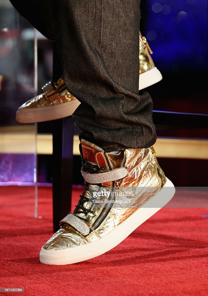 Rapper E-40 (shoe detail) attends the Soul Train Awards 2013 at the Orleans Arena on November 8, 2013 in Las Vegas, Nevada.